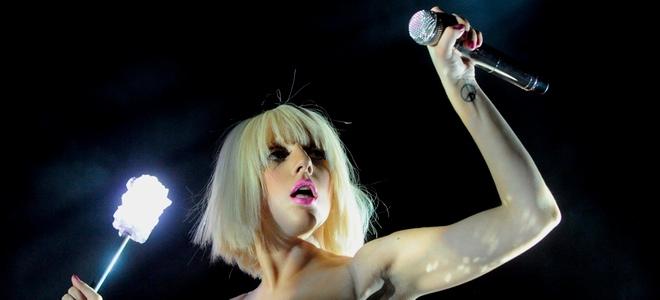 Lady Gaga en su concierto en el Madison Square Garden