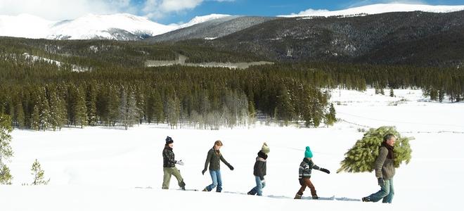Familia en la nieve