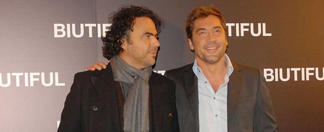 Javier y Alejandro en presentacion de 'Biutiful