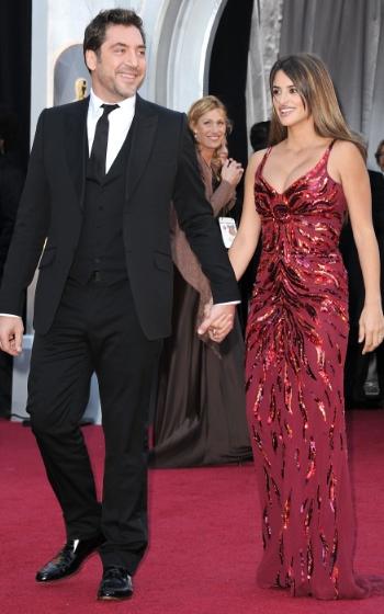 Pe y bardem juntos en alfombra roja oscar 2011