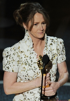 Melissa Leo con su Oscar