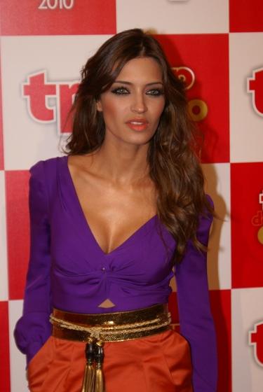 Sara Carbonero presume de escote en la alfombra roja de los TP de Oro 2011