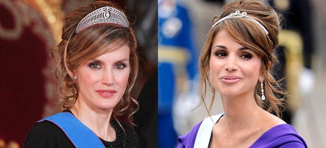 Rania de Jordania y Letizia Ortiz parecido el estilismo