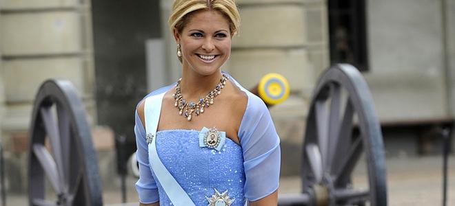 Magdalena de Suecia en la boda de su hermana Victoria de Suecia