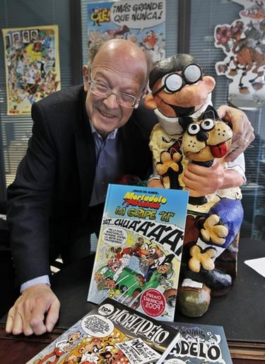 Francisco Ibáñez, creador de 'Mortadelo y Filemón', cumple 75 años