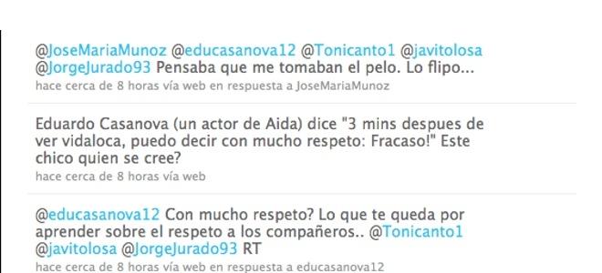 Miguel Ángel Muñoz y Eduardo Casanova, 'a tortas' en Twitter por 'Vida loca'