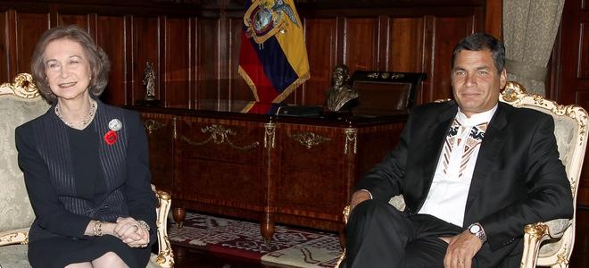 La Reina Sofía visita Ecuador para supervisar proyectos de cooperación