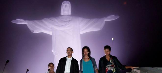Barack Obama y su familia conocen el Cristo Redentor y la samba de Brasil
