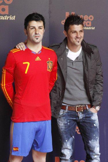 David Villa y Andrés Iniesta, héroes del Mundial, ya tienen una figura de cera