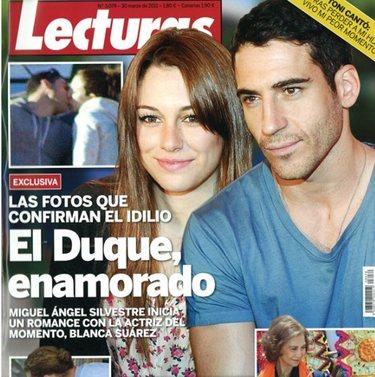 Blanca Suárez y Miguel Ángel Silvestre pillados dándose un beso
