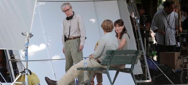 Primeras imágenes de Carla Bruni al mando de Woody Allen 'Medianoche en París'