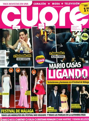 Mario Casas se divierte con Blanca Suárez e Irene Montalá en el Festival de Málaga