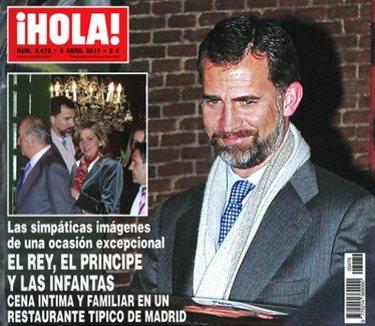 El Rey de cena por Madrid con el Príncipe Felipe y las Infantas Elena y Cristina