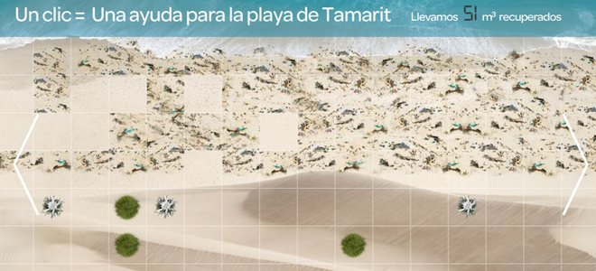 Un 'clic' puede salvar la degradada playa catalana de Tamarit