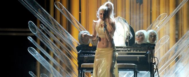 Lady Gaga en un concierto