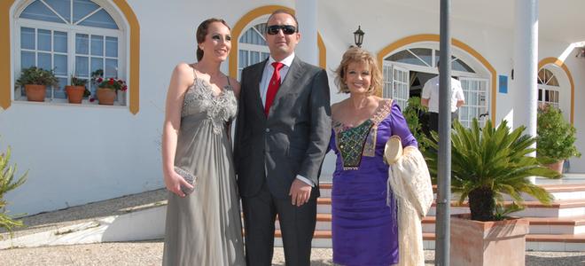 fotos boda de chayo mohedano: maria teresa campos, fidel albiac y rocio carrasco