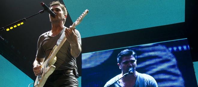 Juanes en su conciero en Nueva York