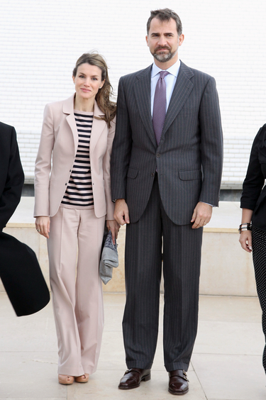 La Princesa Letizia elige un cómodo 'look' para su histórica visita a Palestina