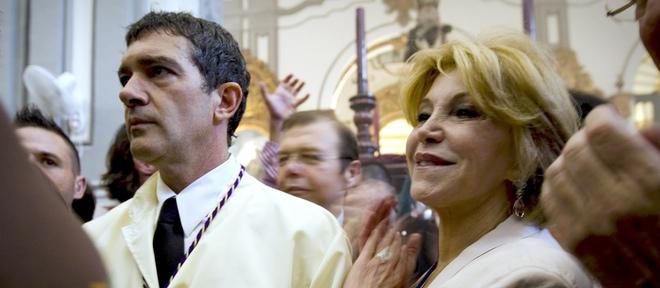 Antonio Banderas y la baronesa Thyssen