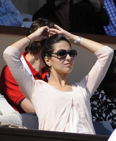 Xisca Perelló, junto a su novio Rafa Nadal en la final del Masters de Montecarlo