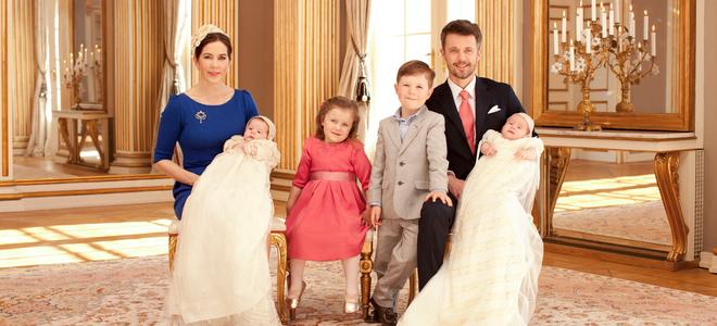 Mary Donaldson y Federico de Dinamarca con sus cuatro hijos