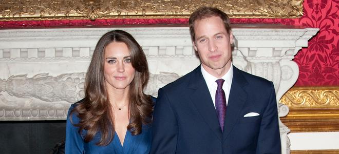Kate Middleton y Guillermo de Inglaterra el día de su pedida de mano