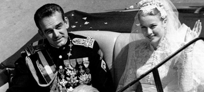 Rainiero de Mónaco y Grace Kelly