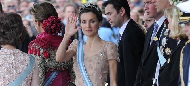 El 'look' de la Princesa Letizia en las bodas reales
