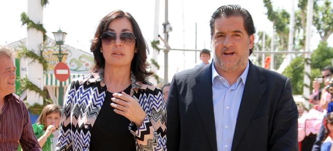 María Teresa Campos, Carmen Martínez Bordiú y José Campos visitan la Feria de Abril 2011