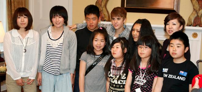 Justin Bieber muestra su lado más humano con las víctimas del terremoto de Japón