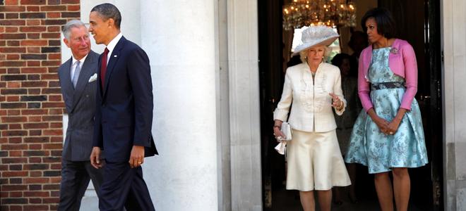 Barack y Michelle Obama con Carlos de Inglaterra y Camilla Parker Bowles