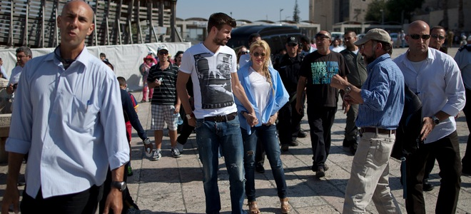 La peregrinación de Gerard Piqué y Shakira a Jerusalén por motivos laborales