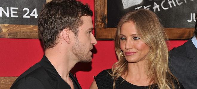 Las miraditas de Cameron Diaz y Justin Timberlake en el estreno de 'Bad teacher'