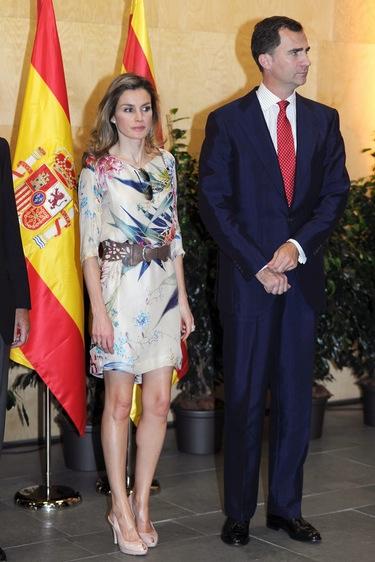 Letizia Ortiz con un 'look' muy veraniego para acompañar a don Felipe a Girona