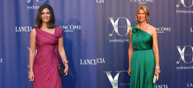 Nuria Roca y Anne Igartiburu, impresionantes en fucsia y verde