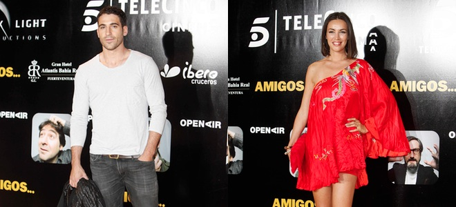 Miguel Ángel Silvestre, Goya Toledo y Malena Alterio pasan la noche entre 'Amigos'