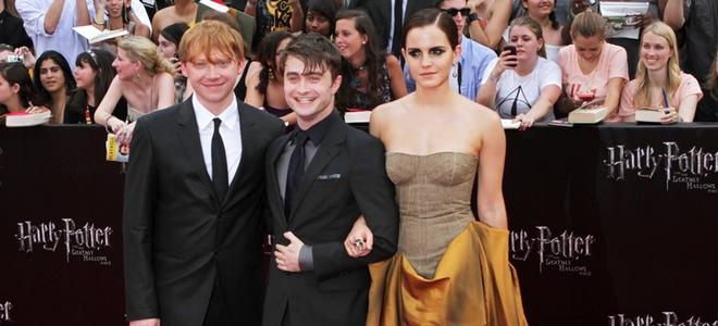 Emma Watson, daniel radcliffe, rupert grint revolucionan Nueva York en el estreno de 'Harry Potter y las reliquias de la muerte. Parte 2'