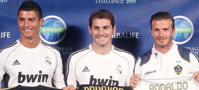 David Beckham reaparece tras el nacimiento de Harper Seven junto a Iker Casillas y Cristiano Ronaldo