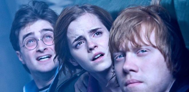 harry potter y las reliquias de la muerte parte 2: Daniel Radcliffe (Harry Potter), Emma Watson (Hermione Granger) y Rupert Grint (Ron Weasley)