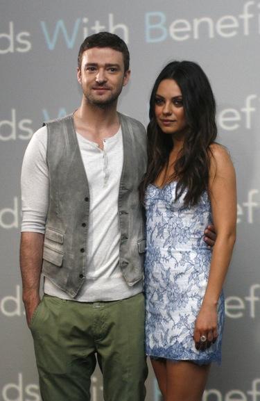 Justin Timberlake y Mila Kunis promocionan 'Amigos con beneficios' en Cancún
