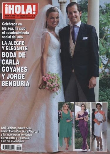 La foto más esperada y exclusiva de la boda de Carla Goyanes y Jorge Benguria