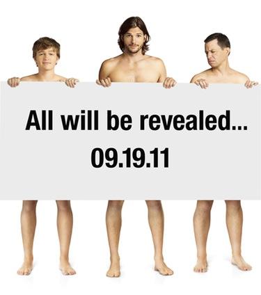 Ashton Kutcher promociona desnudo su papel en 'Dos hombres y medio'