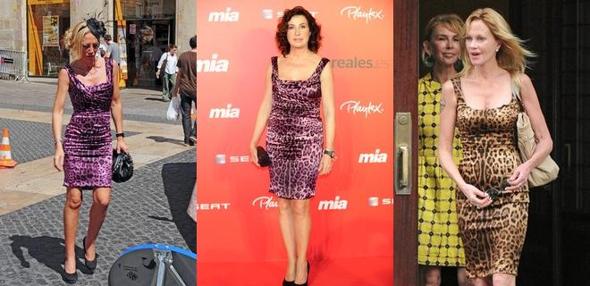 Belén Esteban, Carmen Martínez-Bordiú y Melanie Griffith: tres mujeres y un vestido de leopardo
