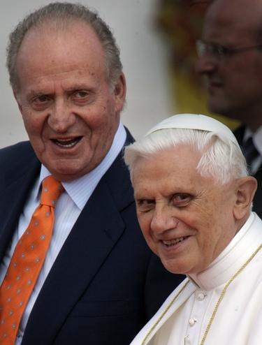 Benedicto XVI y el rey Juan Carlos