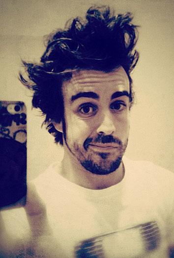 Fernando Alonso sube una foto a su Twitter
