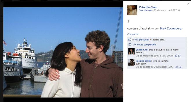 La novia de Mark Zuckerberg de Facebook Bolsa