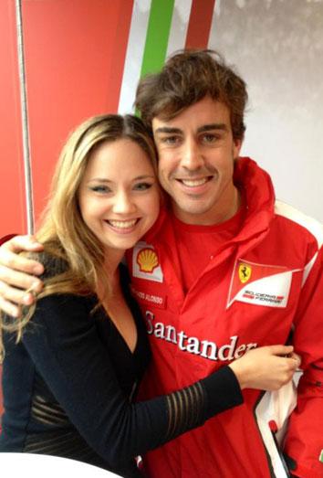 La nueva amiga de Fernando Alonso: la modelo rursa Kapustina Dasha