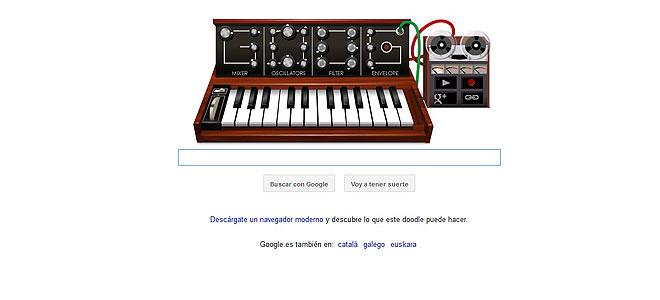 Los mejores doodles de Google: sintetizador, de Robert Moog