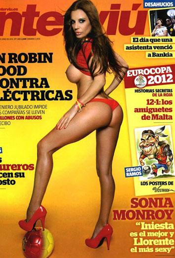 Sonia Monroy calienta a La Roja con un provocativo desnudo en Interviu