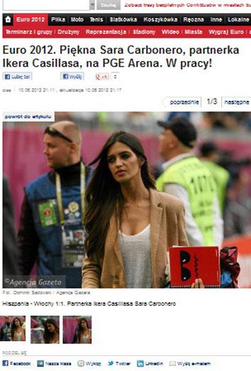 El look de Sara Carbonero en la Eurocopa: la novia de Iker Casillas en Polonia